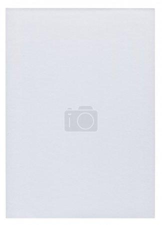 Photo pour Morceau de papier blanc blanc isolé sur fond blanc pur - image libre de droit