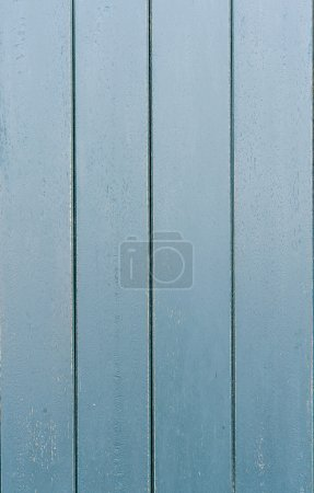Photo for Old grunge blue wood panels used as background - Royalty Free Image