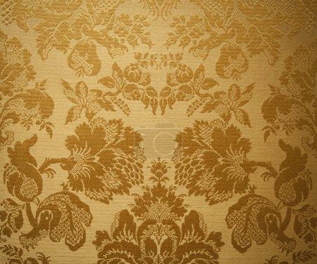 Photo pour Fond jaune floral dans un style vintage - image libre de droit