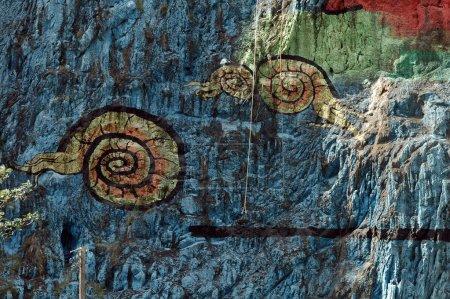 Photo pour Murale de la Prehistoria, monument dans les vallées vinales - image libre de droit