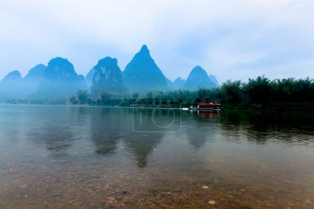 Chinese guilin yangshuo landscape