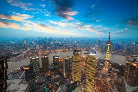 Шанхай на закате