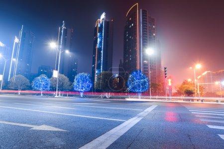urban road at night