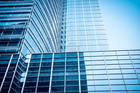 Photo for Modern glass skyscraper ,glass wall of office buildings - Royalty Free Image