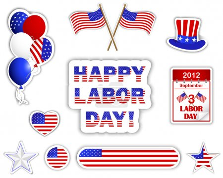Labor day stickers.