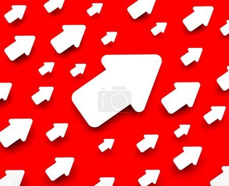 Photo pour Image conceptuelle. Arrière plan avec flèche - image libre de droit