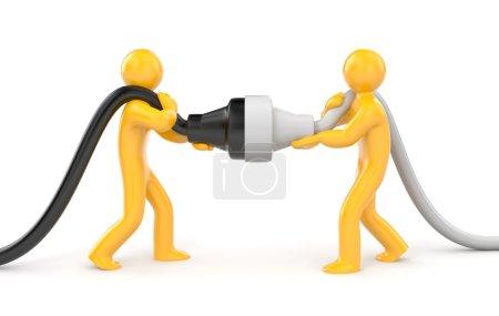 Photo pour Concept de partenariat. Isolé sur blanc - image libre de droit