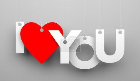 Photo pour Illustration 3d pour la Saint Valentin - image libre de droit
