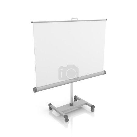 Photo pour Écran de projection ou tableau blanc. Isolé sur blanc - image libre de droit
