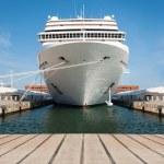 Cruise ship standing at the berth. Copenhagen...