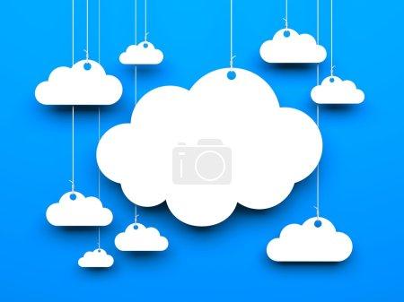 Photo pour Fond de nuage. image 3D - image libre de droit