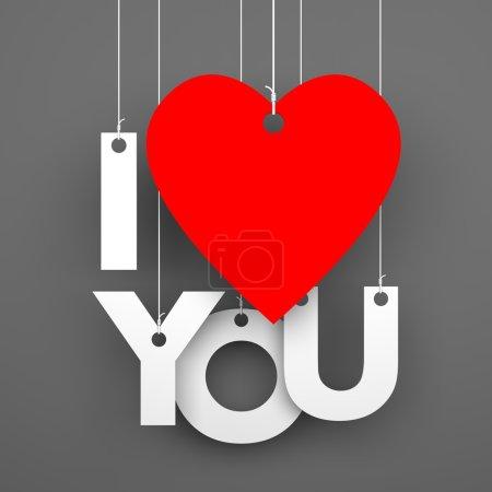 Photo pour Je t'aime. Image conceptuelle - image libre de droit
