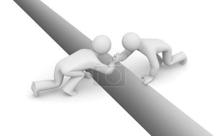 Help metaphor. Partnership