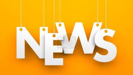 Photo for News on orange background - Royalty Free Image