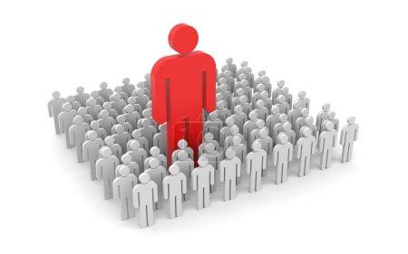 Photo pour Concept de leadership. démarquer de la foule. isolé sur blanc - image libre de droit