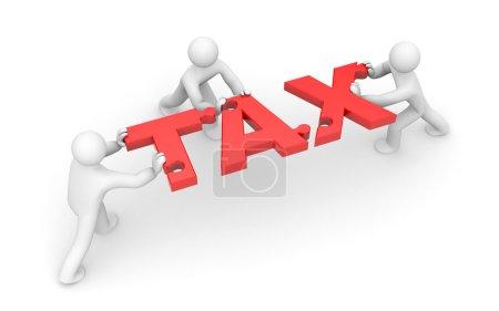Tax metaphor. Text as puzzles