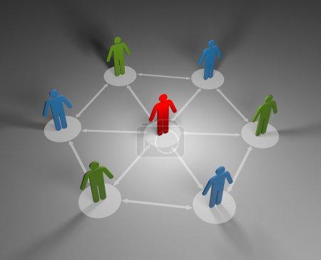 Foto de Concepto del negocio. imagen 3d conceptual - Imagen libre de derechos