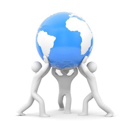 Photo pour La Terre entre nos mains ou sauver le concept de la Terre . - image libre de droit