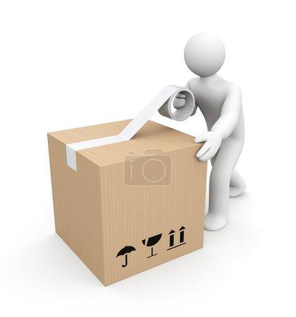 Human packing box