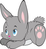 Rabbit cartoon  with isolation on a white background vector
