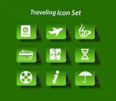 Travel web icon set