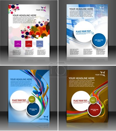Set of presentation flyer design
