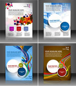 Set of presentation flyer design