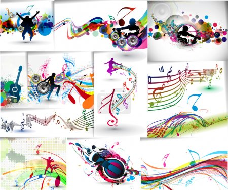Set of Music concept poster template