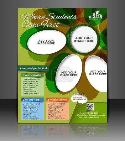 Illustration pour Brochure d'affaires vectorielle, dépliant, couverture de magazine et modèle d'affiche - image libre de droit