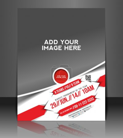 Photo for Vector business brochure, flyer, magazine cover & poster template - Royalty Free Image