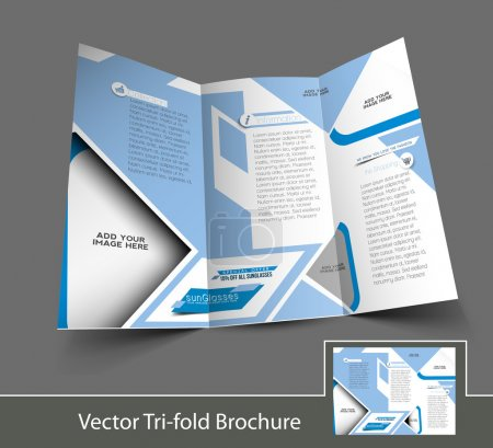 Illustration for Vector Optician Sunglasses Store Brochure Design Template - Royalty Free Image