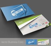 conjunto de tarjeta de visita, aislado con diseño suave sombra del vector