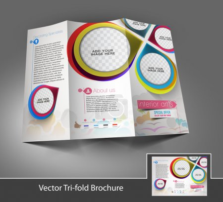 Find Similar Images Tri-Fold Corporate Business Store Mock up & Brochure Design
