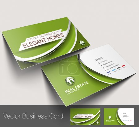 Illustration for Vector business card set, isolated with soft shadow design - Royalty Free Image