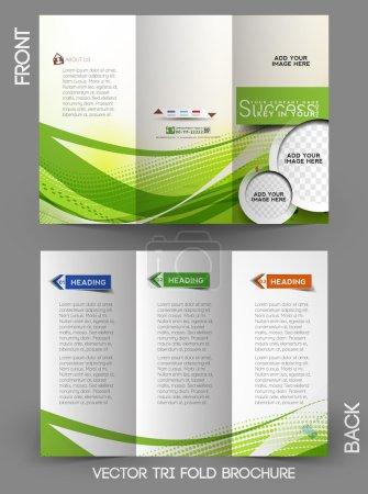 Illustration for Corporate Business Tri-Fold Mock up & Brochure Design - Royalty Free Image