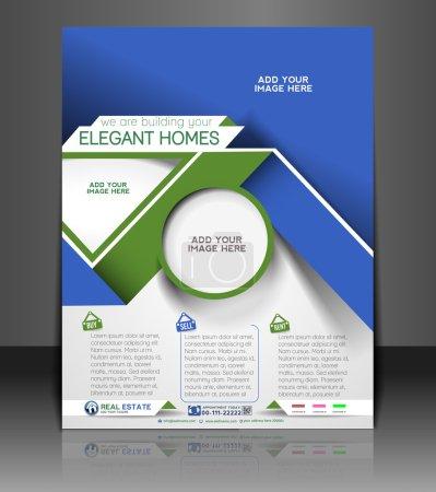 Photo pour Modèle de flyer & affiche agent immobilier - image libre de droit