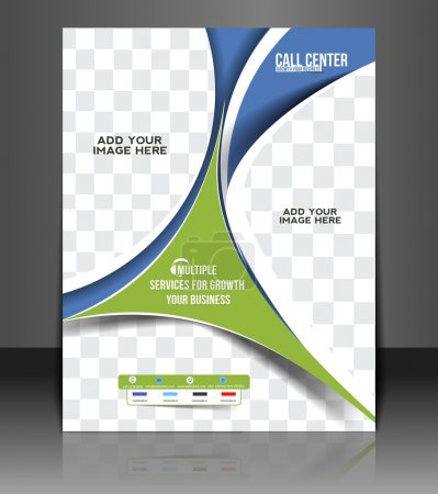 Vector Call Center Flyer Magazine Cover