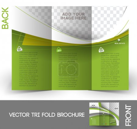 Tri-Fold Real Estate Agent Mock up & Brochure Design