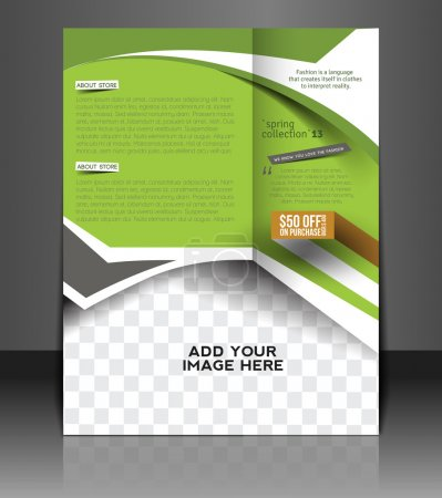 Illustration for Fashion store Flyer & Poster Cover Template - Royalty Free Image