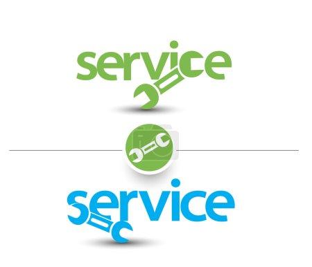 Illustration for Set Of Service Web Icon Design Element. - Royalty Free Image