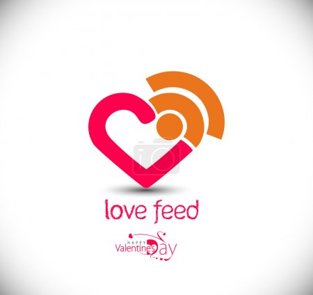 Love feed icon, isolated vector symbol