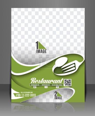 Illustration pour Restaurant & Hôtel Retour Flyer & Modèle de carte de menu - image libre de droit