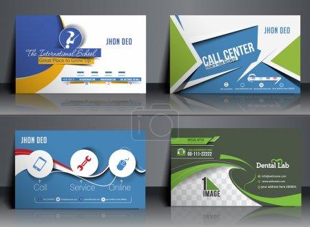 Illustration for Set of Business Card Mock up Design - Royalty Free Image