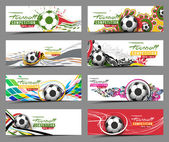 Set of Football Event Banner Header Ad Template Design