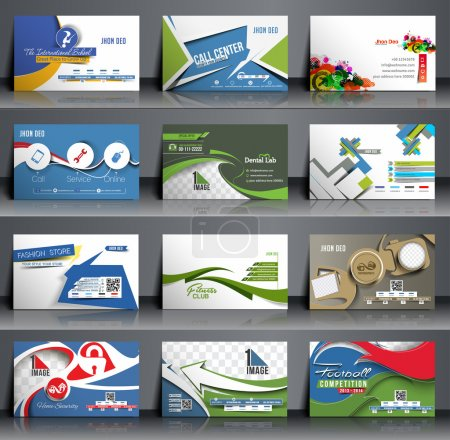 Mega Collection Business Card Template Design.