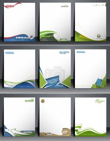 modèle leterhead de neuf affaires style identité corporative
