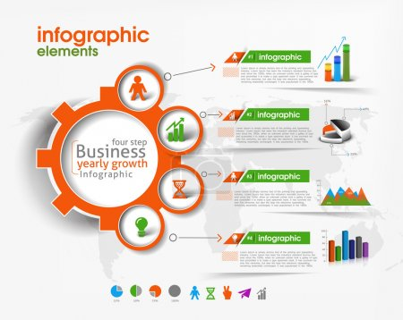 Illustration for Business Infographic Vector Background. - Royalty Free Image