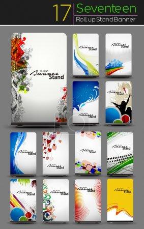 Illustration pour Mega Collection de conception de bannière enroulable - image libre de droit