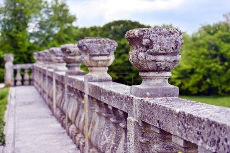Stone railing in Pidhirtsi Castle