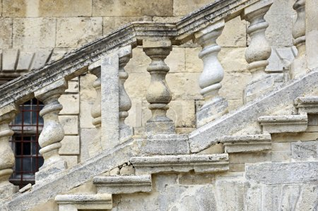 Stone steps in Pidhirtsi Castle